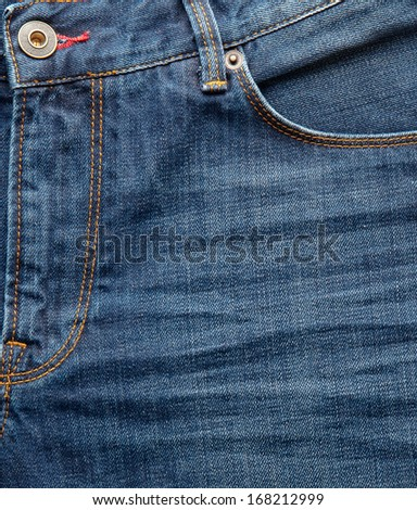 close up up of fancy washed blue jeans