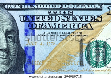 Close up USD, Dollar note  - stock photo