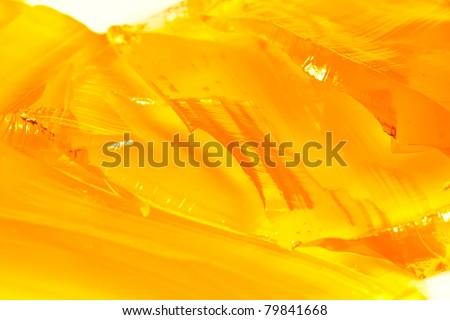 close- up varicoloured slippery tasty brilliant jelly like broken glass - stock photo