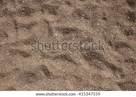 Close up view beach sand background. Textured - stock photo