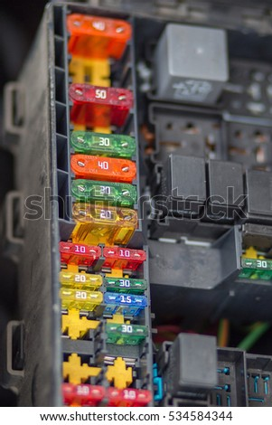 close view focus car fuse box stock photo royalty free 534584344 rh shutterstock com Fuse Architects Fuse Architects