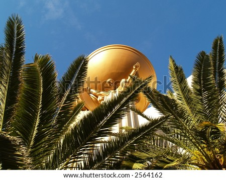 close up view in las vegas - stock photo