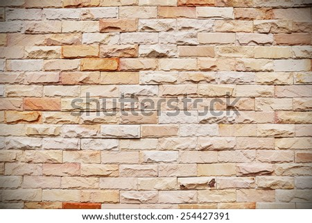 Close-up View of a Brick Wall - Background Texture - stock photo