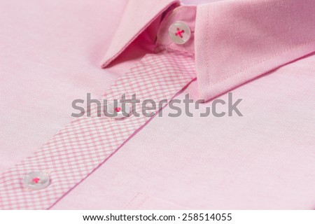 Close up view of a pink business shirt. - stock photo