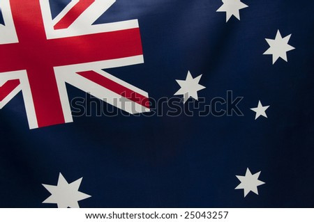 Close up view of an Australian flag.  Part of a series