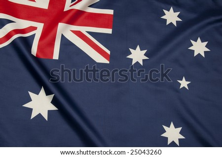 Close up view of an Australian flag.  Part of a series - stock photo