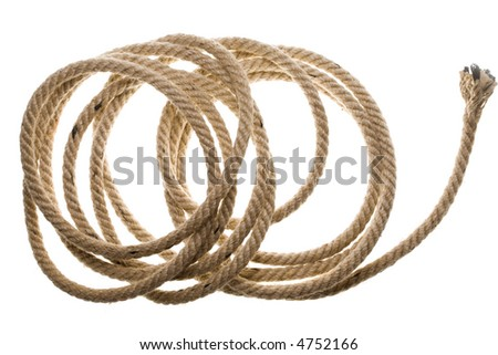 Close up view of an old rope