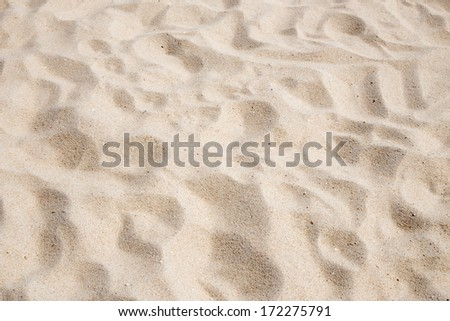 Close up view of beach sand background - stock photo