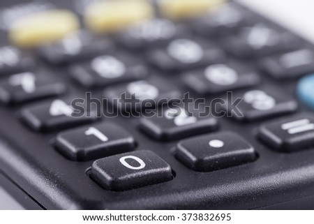 Close up view of calculator keys - stock photo