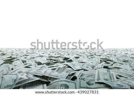 close up view of cash money dollars bills in amount - stock photo