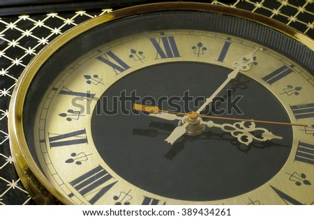 close up view of clock