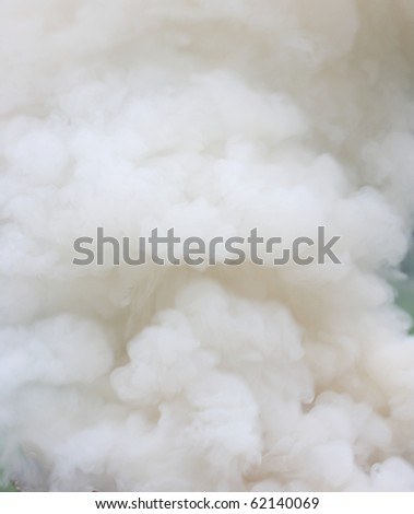 Close up view of dense smoke fumes - stock photo