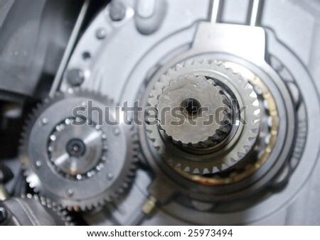 close up view of gears from old mechanism