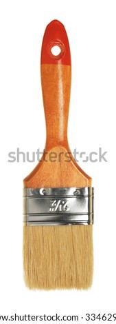 close up view of hte brushisolated on white - stock photo