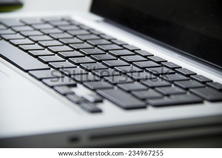 close-up view of keyboard