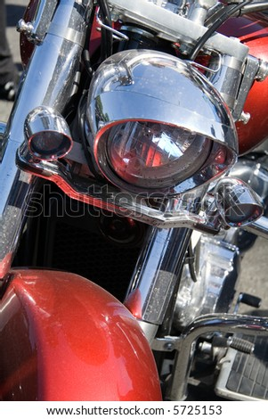 Close up view of motorcycle