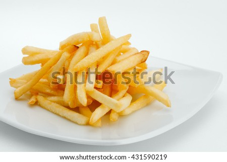close  up view of nice yummy meal  on white back - stock photo