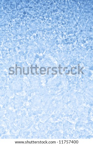 Close up view of the blue water surface background - stock photo