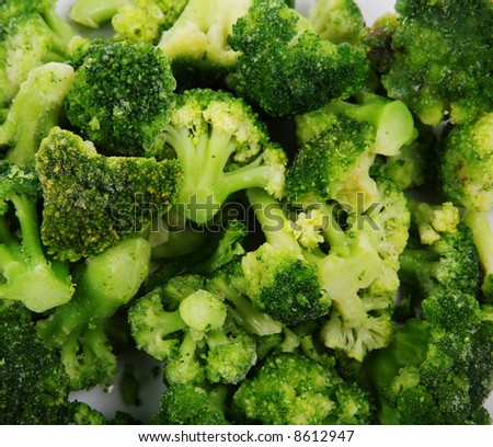Close up view of the broccoli