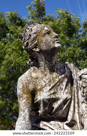 Close up view of the Diana Statue on a urban park. - stock photo