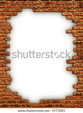 Close up view of the Grunge brick wall texture - stock photo