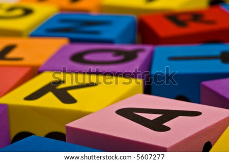 Close up view of the Letters background - stock photo