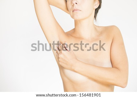 Breast model for detecting lumps