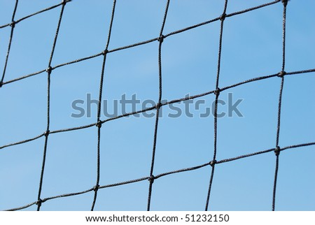 Close up view of the soccer or volleyball net - stock photo