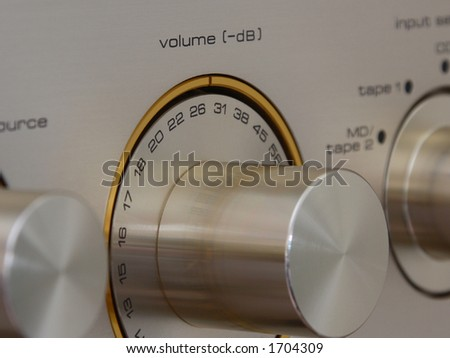 Close up view of volume control