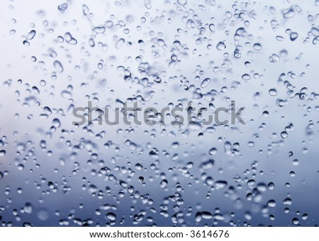 close-up view of waterdrops