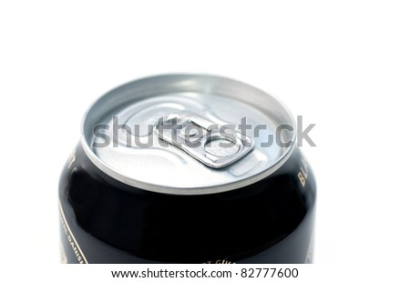 Close up view on a tin can