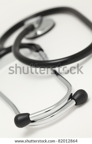 Close up view on typical medical stethoscope