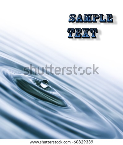 close up, water droplet,space your text - stock photo