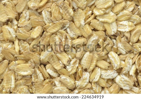 Close-up  wheat of  khorasan flakes for breakfast - stock photo