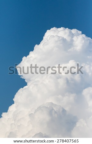 Close up White clouds  in blue sky - stock photo