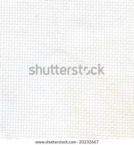 Close up white fabric textile texture to background - stock photo
