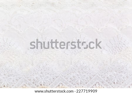 Close-up White lace cloth background and texture - stock photo