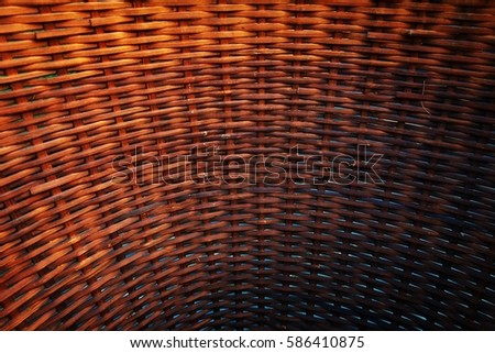 Close up wicker texture for background. Bamboo basket wicker vintage pattern for background.