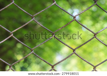 Close up wire mesh steel with natural background