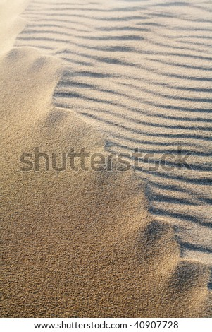 Close up with a rippled sand - stock photo