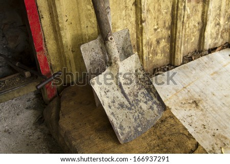 close-up with shovel - stock photo