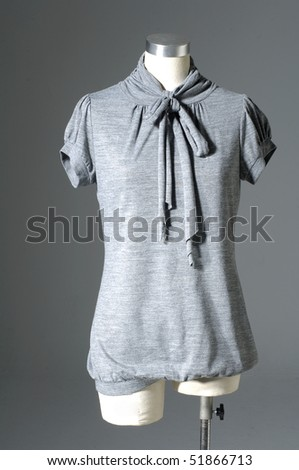 Close up Woman shirt isolated on the gray
