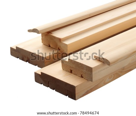 Close-up wooden boards - stock photo