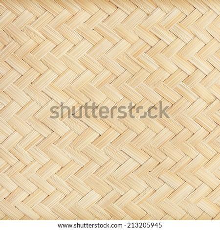 close up woven bamboo pattern - stock photo