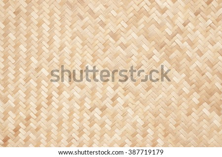 close up woven bamboo pattern - stock photo