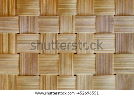 Close up woven bamboo pattern or texture. - stock photo