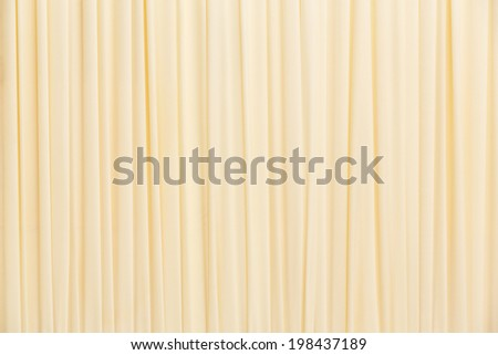 Close up yellow color curtain texture background - stock photo