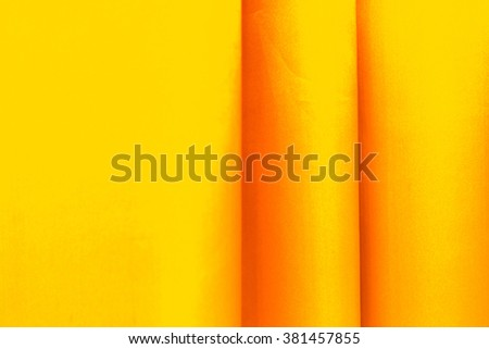 close up yellow curtains - stock photo