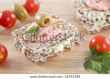 Close upof freshlu made small bitesor food for catering events - stock photo