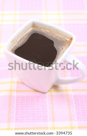 close-ups of cup of coffee - good morning